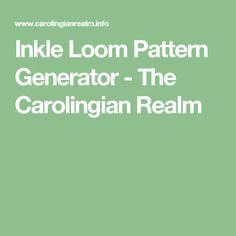 Inkle Loom Pattern Generator - The Carolingian Realm