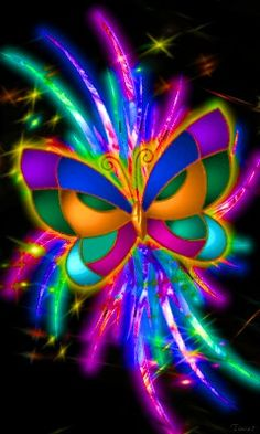 Colourful butterfly.    For similar pins please follow me at - https://www.pinterest.com/annelouise1959/colour-outside-the-lines/