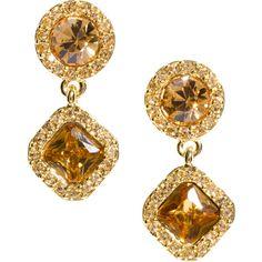 kate spade new york pavé drop earrings, found on #polyvore. #earrings #jewelry fashion jewlery Pure apticot jam