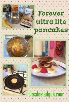 enjoy forever livings ultra lite protein shake powder as a pancake treat for breakfast. buy from www.thealoeladyuk.com
