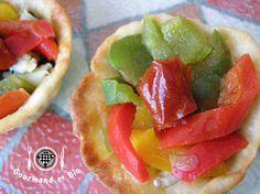 tartelette aux poivrons et tomates marinés