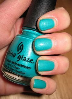 China Glaze Turned Up Turquoise 849237 reviews - Makeupalley