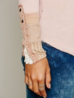 Free People We The Free Kyoto Cuff Thermal in blush at Free People Clothing Boutique
