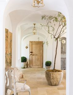 Home Decor and Lifestyle from Hello Lovely Studio: Beautiful European farmhouse (Patina Farm) with vintage door and plaster walls French Country Interiors, French Farmhouse Decor, French Country House, French Decor, French Country Decorating, Farmhouse Style, French Style House, Rustic Italian Decor, Modern French Country