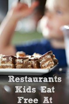 Restaurants Kids Eat Free At