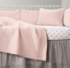 soft grey an light pink nursery   Soft pink, grey and white - oh so soothing and what delight!