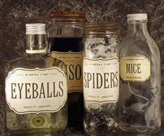 20 Spooktacular DIY Halloween Decorations: Apothecary Jars