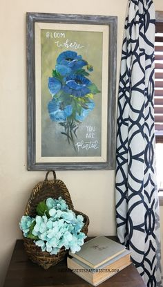 Updating a thrift store painting with this easy diy tutorial. Thrift Store Art, Picture Frame Art, Fun Projects, Diy Tutorial, Reuse, Thrifting, Easy Diy, Newsletter Ideas, Bloom