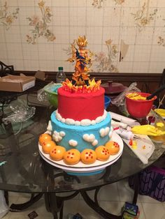 Dragon ball z cake, made for my brothers b-day