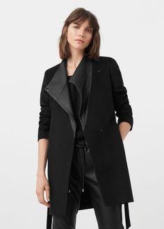 Wool leather coat