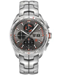 Tag Heuer Men's Swiss Automatic Chronograph Carrera Calibre 16 Stainless Steel Bracelet Watch 44mm CBB2010.BA0906 - Senna Special Edition