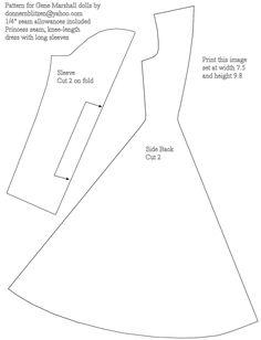 Free Printable Barbie Doll Dress Pattern