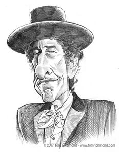 This caricature of folkie legend Bob Dylan was based on an illustration I did of him for Minnesota Monthly magazine a few years back. The original is available in the Studio Store. Funny Caricatures, Celebrity Caricatures, Celebrity Drawings, Cartoon Faces, Cartoon Styles, Cartoon Art, Cartoon People, Bob Dylan Poster, Portrait Cartoon