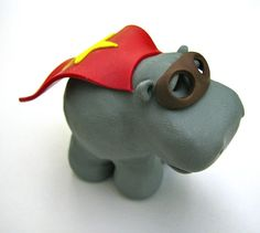 a hippo hero standing there....i want a hippopotamus for christmas...