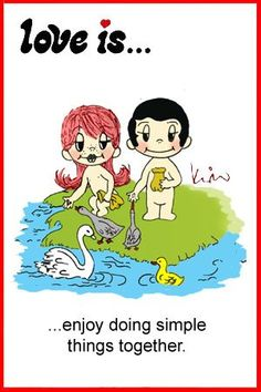 love is... doing simple things together by kim casali