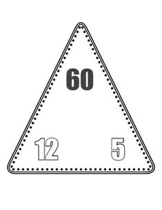 Free Triangle flash cards (addition, subtraction