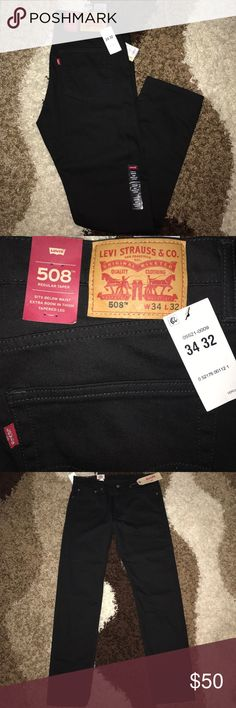 Men's Levi Jeans New! All black Levi's men jeans. 508 Regular Taper. Brand new with tags. 34x32 Jeans Relaxed