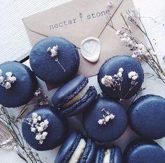Navy macarons