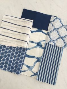 Melinda Hartwright Interiors, Hamptons homes, interior decorating, blue and white fabric for coastal nautical decoration , beach pattern Die Hamptons, Hamptons Style Decor, Beach Cottage Style, Coastal Style, Beach House, Estilo Hampton, Home Interior, Interior Decorating, Decorating Ideas