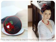 Hand made Fascinator by ZZV/katerina sailerova Vintage Accessories, Bridal Accessories, How To Make Fascinators, How To Make Hair, Hanging Chair, Handmade, Home Decor, Homemade Home Decor, Hand Made