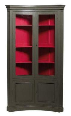 vaisselier d 39 angle en pin massif. Black Bedroom Furniture Sets. Home Design Ideas