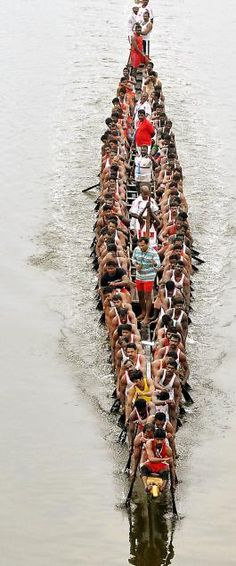 The Nehru Trophy Boat Race is a popular Vallam Kali held in the Punnamada Lake near Alappuzha, Kerala, India