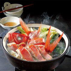 上品な甘みと旨みを、ゆず塩だれで。【高知県産金目鯛鍋】