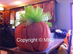 12inch pumpkin mesh that I made.