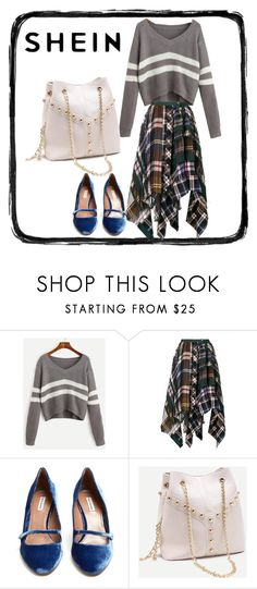 """""""Striped sweater and plaid skirt"""" by feralkind ❤ liked on Polyvore featuring Sacai and Tabitha Simmons"""