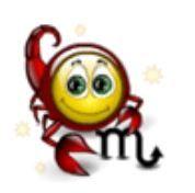 émoticone scorpion