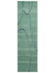 Millennium Hand-Crafted Runner (Aquarium Blue) by Rugs America on Gilt Home