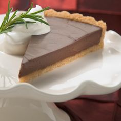 Rosemary-Kissed Chocolate Satin Tart