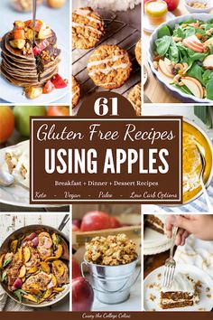 Make the most of fall with these 61 #glutenfree sweet & savory recipes with apple! Recipes range from #vegan apple pie to #paleo squash & apple soup.