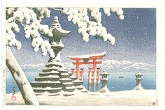 Hasui Kawase: Snow at Miyajima (1932)