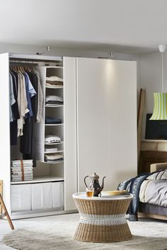Bedroom organization made easy! IKEA PAX fitted wardrobes let you choose it all - the size, color and style - but if you can't decide, we also have loads of ready-made combinations to choose from too!