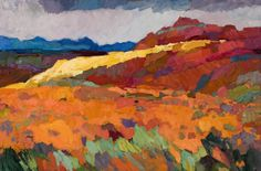 "Larisa Aukon at Mirada Fine Art, 'Wild West Gold,' Original Oil on Panel, 24"" x 36"""