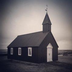 The black church of Budir Iceland