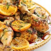 Herb and Citrus Oven Roasted Chicken (serve with lemon orzo)