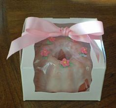 96 Clear Plastic Mini Bundt Cake Favor Boxes Bulk