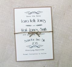 Rustic Vintage Wedding Save the Date by LoveofCreating on Etsy, $3.00