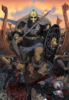 La oss erobre Paris! Thor, Loki, Art Viking, Rune Viking, Norse Pagan, Norse Mythology, Medieval Art, Medieval Fantasy, Viking Power
