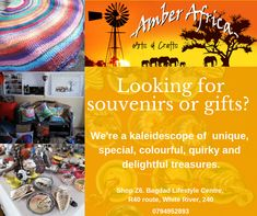 Hurry, come visit our shop in White River, Bagdad Lifestyle Centre and find that perfect gift ! Bagdad, Sand Crafts, Africa Art, Centre, Amber, Arts And Crafts, Lifestyle, Shop, Gifts