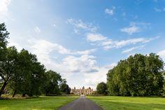 Wedding #venue ideas - Hengrave Hall driveway