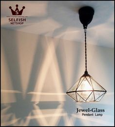 SELFISH お気に入りの照明・家具・かわいい雑貨に囲まれた暮らしをご提案するお店 Stained Glass Art, Glass Pendants, Pendant Lamp, My House, Ceiling Lights, Lighting, Jewels, Interior, Home Decor