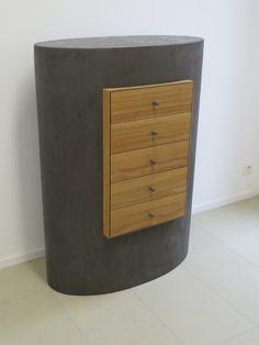 Kommode Metallmöbel Massivholzmöbel Unikatmöbel von WeimannMoebelmacher auf Etsy