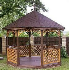 Pergola For Small Patio Gazebo Plans, Backyard Gazebo, Pergola Garden, Backyard Retreat, Diy Pergola, Diy Patio, Outdoor Landscaping, Outdoor Gardens, Garden Huts