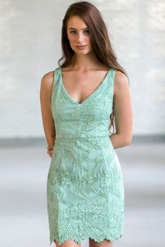 Lily Boutique Social Occasion Embroidered Sheath Dress in Sage, $36 Sage Green Embroidered Sheath Dress, Cute Green Online Boutique Dress, Sage Green Bridesmaid Dress www.lilyboutique.com