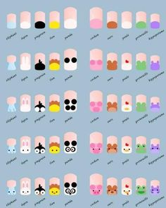 Cute Animals Nail Art Tutorial :) Quite like the penguins!
