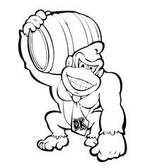Coloring Page Of Donkey Kong And Diddy Kong In The Jungle ...