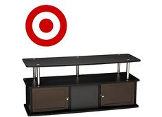 """TV Stand With 3 Cabinets Black 47"""" - Convenience Concepts $41.31 (target.com)"""